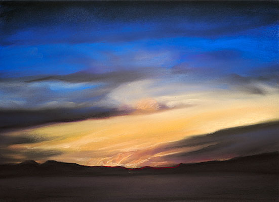 Fine Art Pastel ~ Sally Phillips ~ New Mexico Sunset